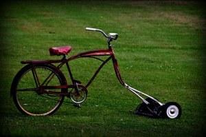 bicicletta taglierba vecchia