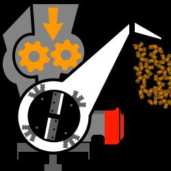 5 - biotrituratori a scoppio con disco + martelli con autotrascinamento