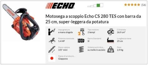 Offerta motosega ECHO CS 280