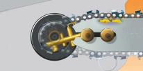 lubrificazione catena elettrosega Stihl