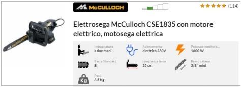Offerta elettrosega McCulloch